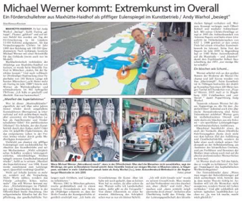 Maxhütte Haidhof und der Kunstweltrekordler Michael Werner